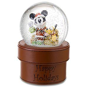 Santa Mickey Mouse Snowglobe Gift Box