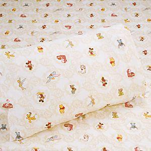 World of Disney Flannel Sheet Set