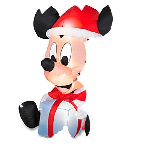 Santa Mickey Mouse Inflatable Lawn Décor