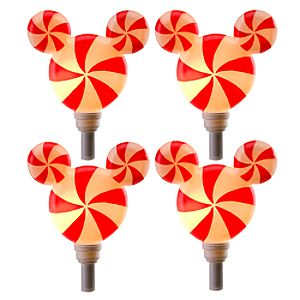 Peppermint Twist Mickey Mouse Light Set -- 4-Pc.
