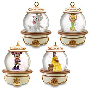 Disney Snowglobe Ornament Set #1 -- 4-Pc.