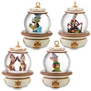 Disney Snowglobe Ornament Set #2 -- 4-Pc.