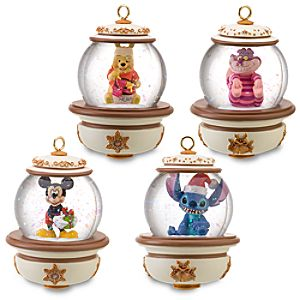 Disney Snowglobe Ornament Set #3 -- 4-Pc.