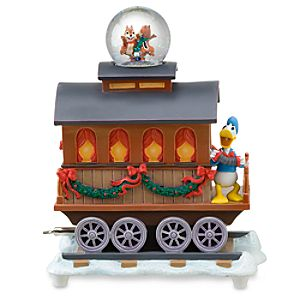 Boxcar Chip an Dale and Donald Duck Snowglobe