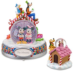 Personalized Musical Mickey Mouse and Friends Snowglobe