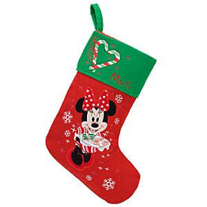 Personalized Minnie Mouse Holiday Stocking