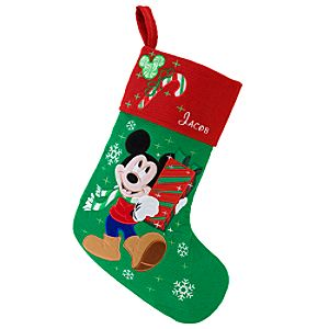 Personalized Mickey Mouse Holiday Stocking
