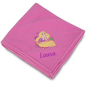 Personalized Tangled Rapunzel Fleece Throw Blanket