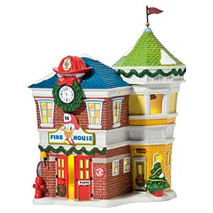 Light-Up Donalds Fire Station Building by Dept. 56