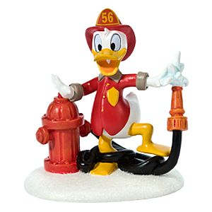 Donalds Fire Station Donald Duck Figurine by Dept. 56