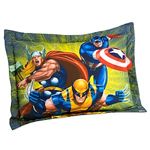 Team Marvel Heroes Pillow Sham