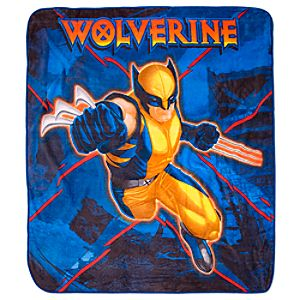 Wolverine Fleece Throw Blanket