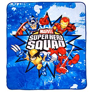 Marvel Super Hero Squad Fleece Throw Blanket