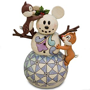 Mickey Snowman Chip an Dale Figurine by Jim Shore