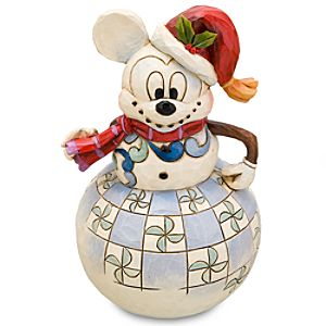 Santa Snowman Mickey Mouse Figurine by Jim Shore
