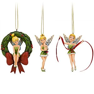 Tinker Bell Ornament Set by Jim Shore -- 3-Pc.