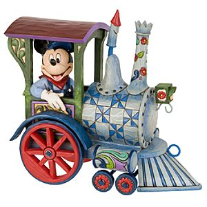 All Aboard! Train Mickey Mouse Figurine by Jim Shore