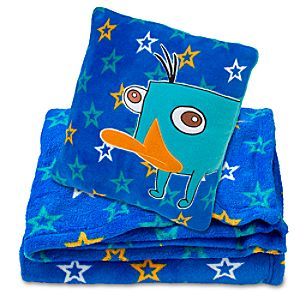 Phineas and Ferb Perry Pillow and Throw Blanket Set