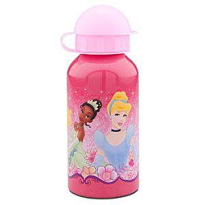 Sparkling Pink Disney Princess Aluminum Water Bottle -- Small