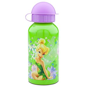 Sparkling Green Tinker Bell Aluminum Water Bottle -- Small