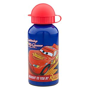 Lightning McQueen Disney Cars Aluminum Water Bottle -- Small