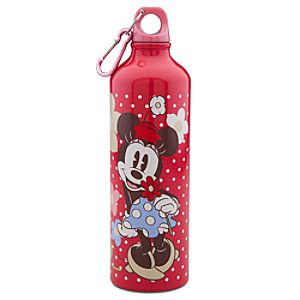 Floral Minnie Mouse Aluminum Water Bottle