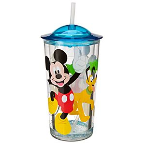 Mickey Mouse Pool Tumbler with Straw