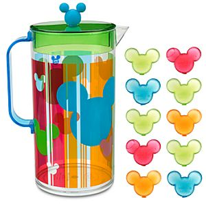 Summer Fun Mickey Mouse Pitcher with Ice Cubes