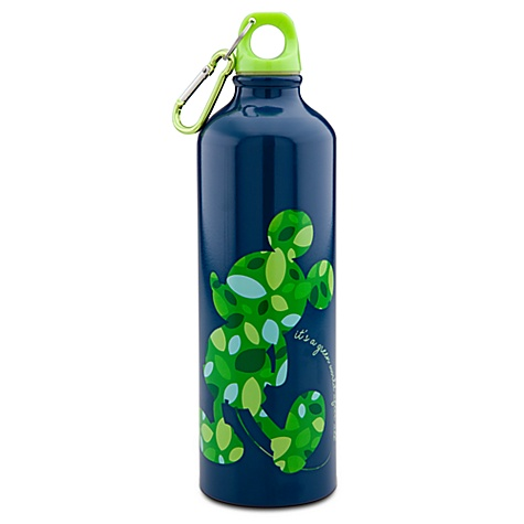 Earth Day Mickey Mouse Aluminum Water Bottle