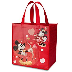 Valentines Day Minnie and Mickey Mouse Reusable Tote