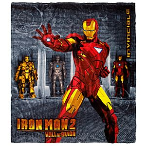 Hall of Armor Iron Man 2 Fleece Throw Blanket