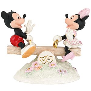 Mickey Sees True Love Mickey and Minnie Mouse Figurine by Lenox
