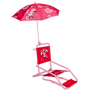 Minnie Mouse Beach Chair and Umbrella