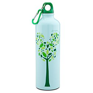 Earth Day Tree Mickey Mouse Aluminum Water Bottle