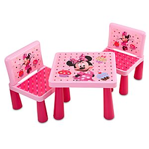 Minnie Mouse Table and Chair Set -- 3-Pc.