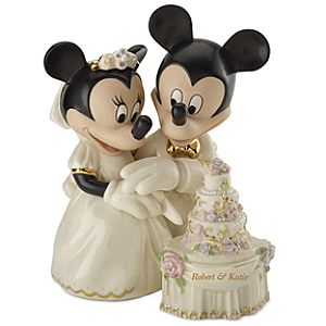 Personalized Minnies Dream Wedding Cake Figurine by Lenox