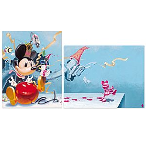 Toy House Mouse Parts 1 & 2 Mickey Mouse Giclée
