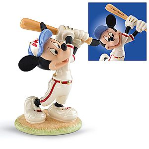 Personalized Mickey Up at Bat Figurine by Lenox