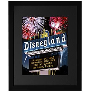 Personalized Disneyland The Happiest Place On Earth FantaSign®