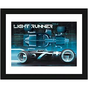 Framed Light Runner Tron: Legacy Lithograph