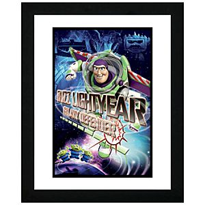 Framed Buzz Lightyear Galaxy Defender Toy Story 3 Lithograph