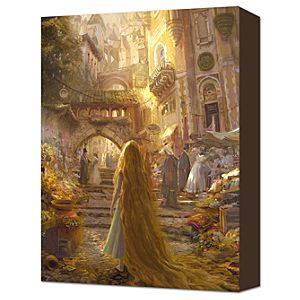 Beautiful Morning Tangled Rapunzel Gallery Wrapped Canvas