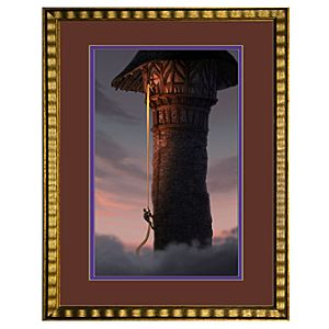 Flynns Ascent Framed Limited-Edition Tangled Rapunzel Gicleé