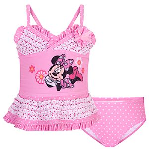 Deluxe Two-Piece Minnie Mouse Swimsuit for Girls