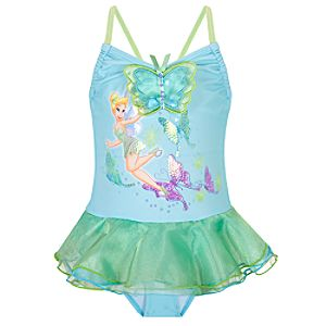 Deluxe One-Piece Tinker Bell Swimsuit for Girls
