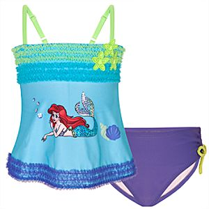 Deluxe Ariel Swimsuit for Girls -- 2-Pc.