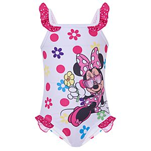 Floral Minnie Mouse Swimsuit for Toddler Girls