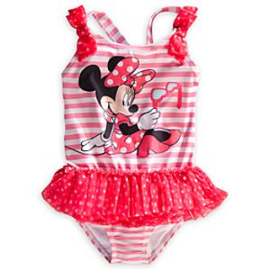 Minnie Mouse Deluxe Striped Swimsuit for Girls