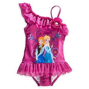 Anna and Elsa Swimsuit for Girls - Frozen