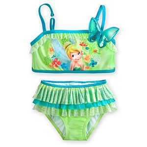 Tinker Bell Deluxe Swimsuit for Girls - 2-Piece
